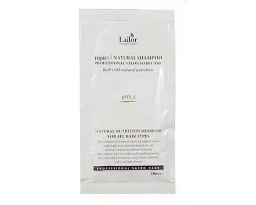 Пробник органического шампуня с растительными экстрактами Triplex Natural Shampoo LADOR 10 мл