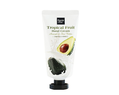 Крем для рук с авокадо FARMSTAY TROPICAL FRUIT HAND CREAM AVOCADO - 50 мл