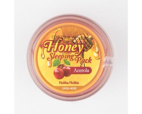 Ночная маска с медом и экстрактом барбадосской вишни Holika Holika Honey Sleeping Pack (Acerola Hone