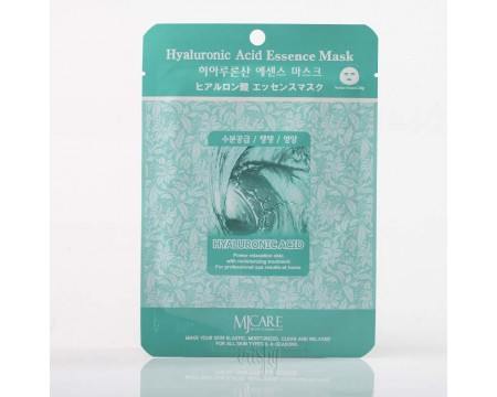 Тканевая маска для лица с гиалуроновой кислотой MJ CARE Hyaluronic Acid Essence Mask - 23 г